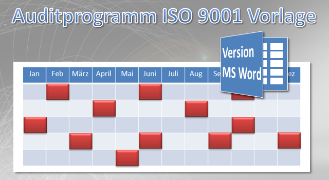 Auditprogramm ISO 9001