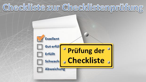Checkliste zur Checklistenprüfung