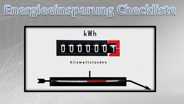 Energieeinsparung Checkliste
