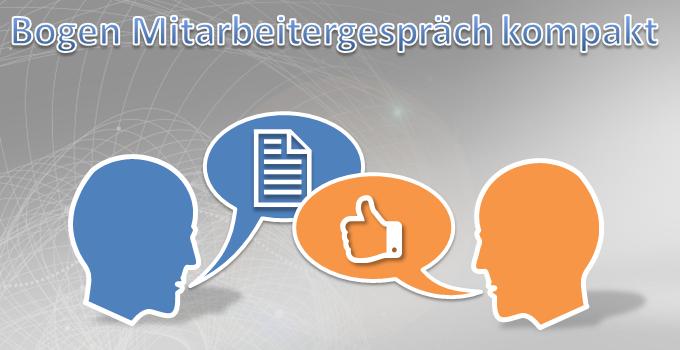 Gesprächsbogen Mitarbeitergespräch kompakte Version