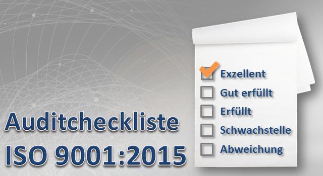 Auditcheckliste ISO 9001:2015 Vorlage