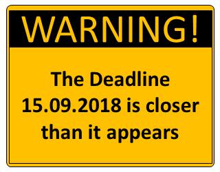 Update auf ISO 9001:2015 – Der Contdown läuft am 15.09.2018 aus.