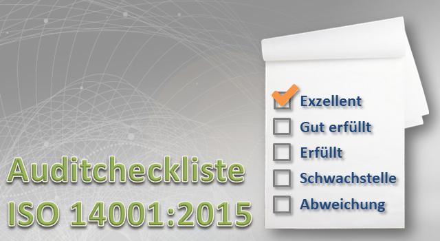 Auditcheckliste ISO 14001:2015