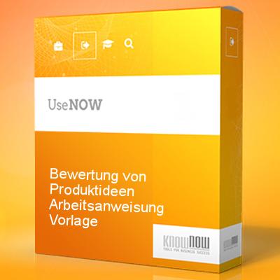 Bewertung von Produktideen Arbeitsanweisung Vorlage - Know-NOW Vorlagen