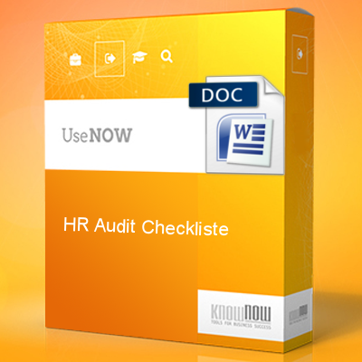 HR-Audit Checkliste - Know-NOW Vorlagen