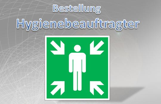 Bestellung Hygienebeauftragter