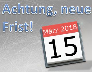 15. März 2018: Neue Frist für ISO 9001 und ISO 14001