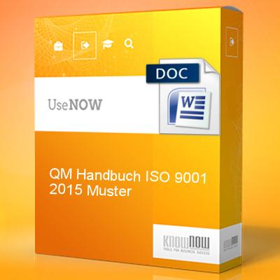 QM-Handbuch ISO 9001:2015 Muster - Know-NOW Vorlagen