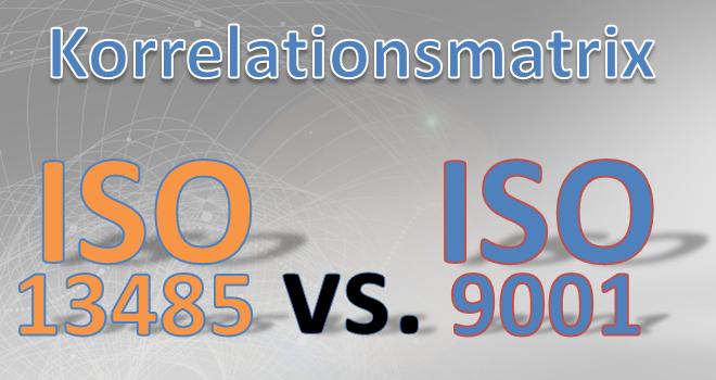 Delta-Matrix ISO 13485 zu ISO 9001