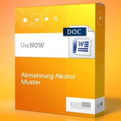 Abmahnung Alkohol Muster Know Now Vorlagen