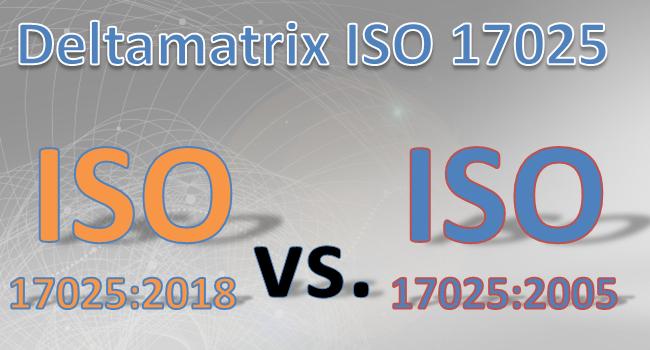 DIN EN ISO 17025 Delta-Matrix 2005 zu 2018