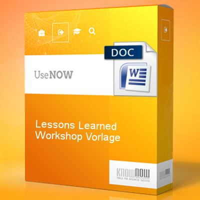 Lessons Learned Workshop Vorlage Know Now Vorlagen