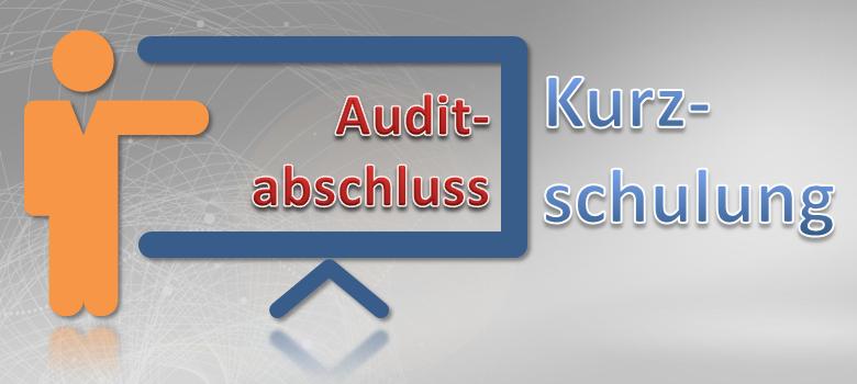 Auditabschluss Kurzschulung