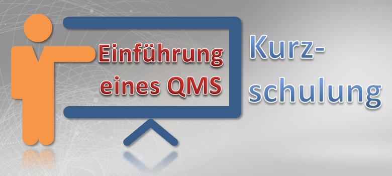 Verwirklichung eines QM-Systems Kurzschulung