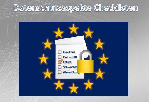 Datenschutzaspekte Checklisten