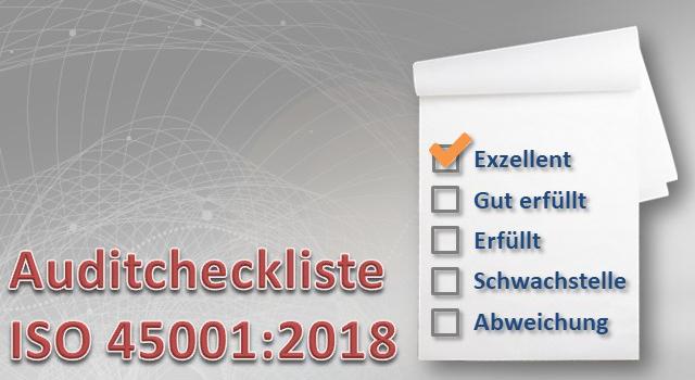 Auditcheckliste DIN EN ISO 45001:2018