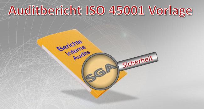 Auditbericht ISO 45001 Muster