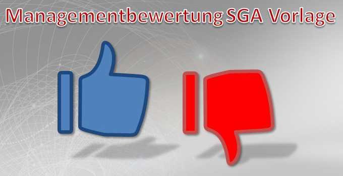 Managementbewertung SGA Vorlage