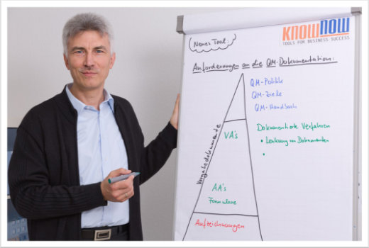 Reinhold Kaim bei der Arbeit